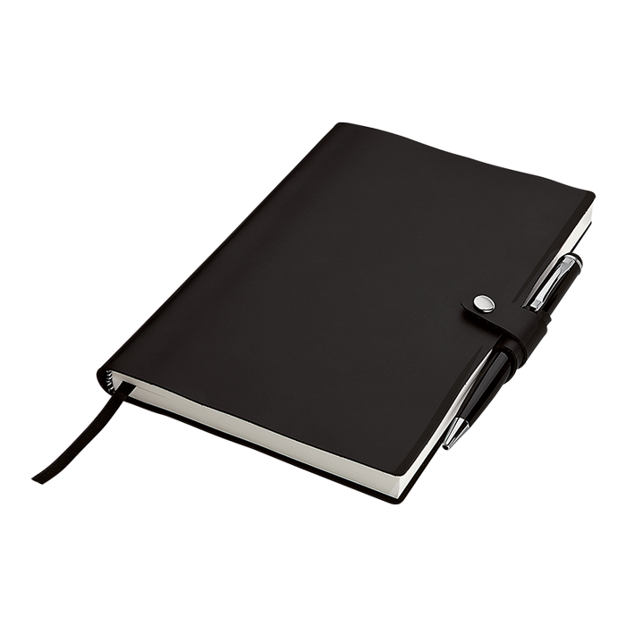BF0024 - A5 Journal With Pen Holder - 128 Pages
