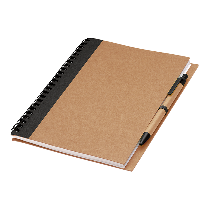 BF0088 - Colour Accented Spiral Notebook with Pen