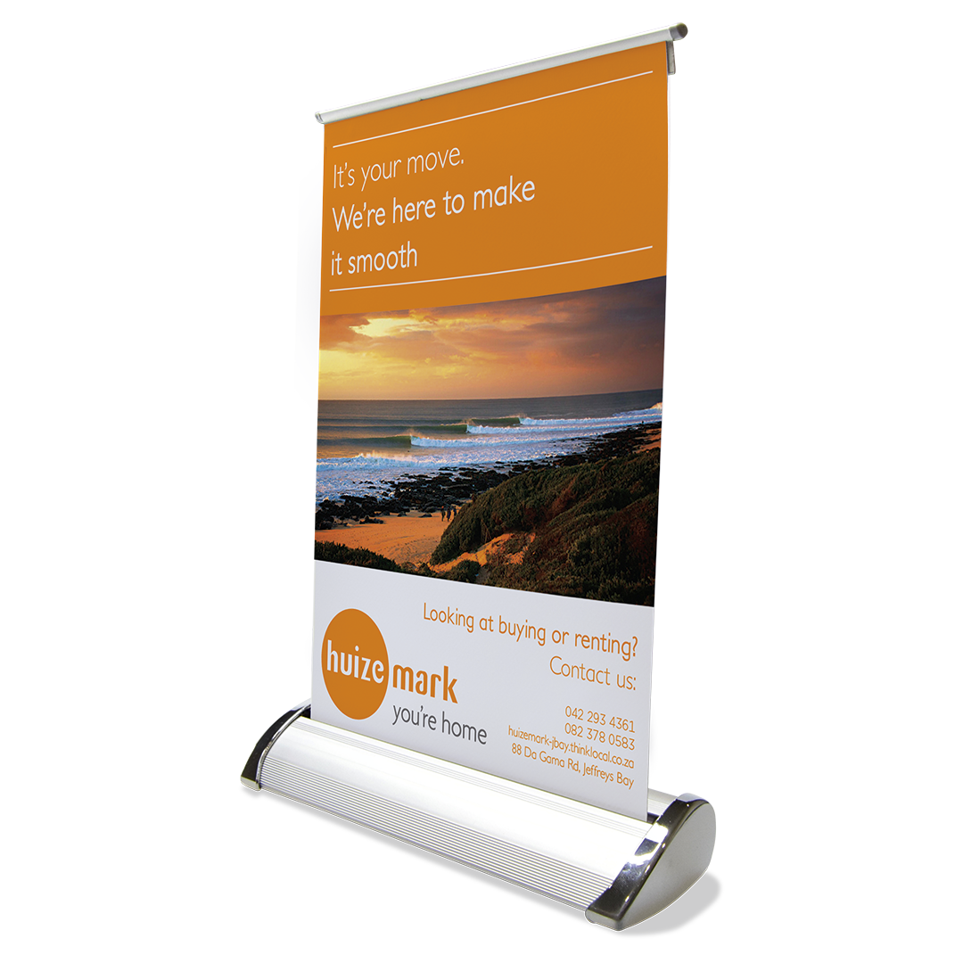 Desk Mini Pull Up Banner