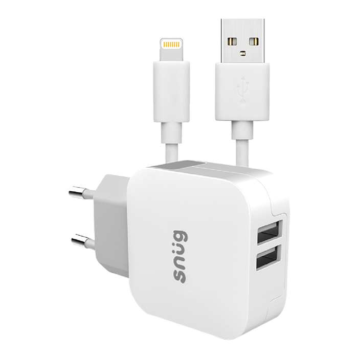 SN0009 - Snug Home Charger With Apple Lightning Ch