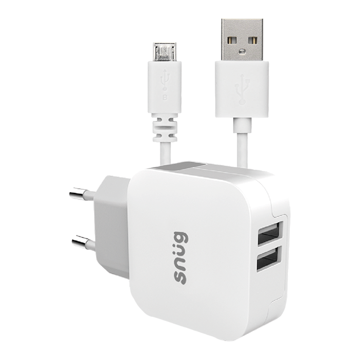 SN0011 - Snug Home Charger With Micro USB Charge a